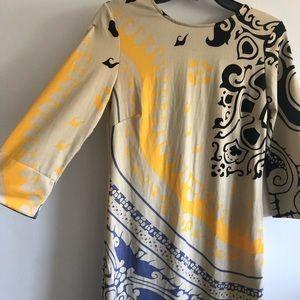Julie Brown Dress Size M black-beige-orange